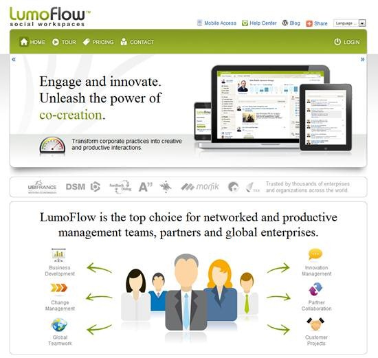 Lumoflow - Cloud based social collaboration platform for enterprises