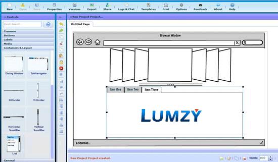 Lumzy - Mockup and Prototype creation tool