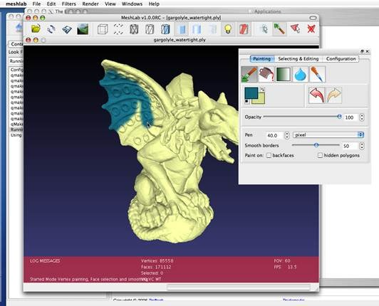 MeshLab open source CAD software