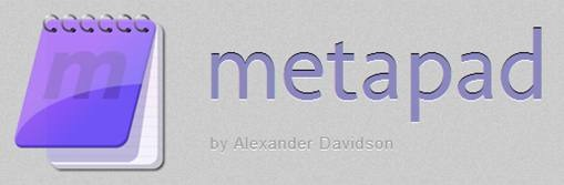 Metapad - free text editor for Windows