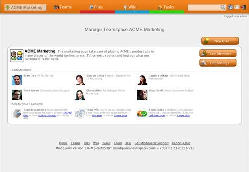 Mindquarry 17 open source wiki engine/software
