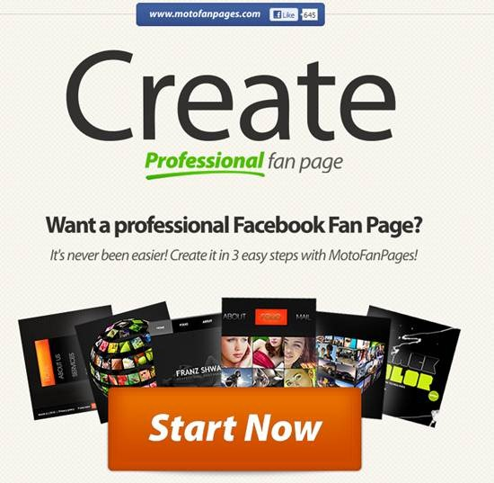 MotoFanPages 13 useful Custom Facebook Fan page builder