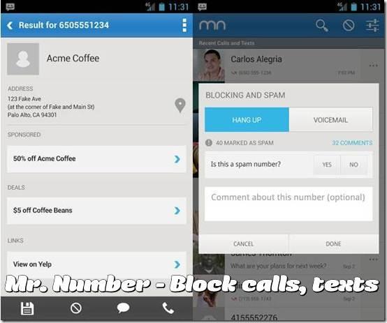 Mr. Number - Block calls, texts 3