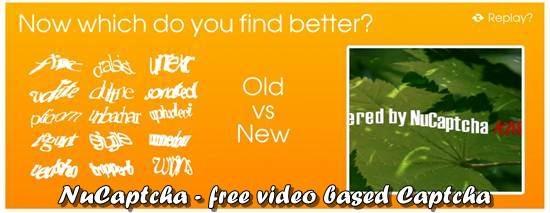NuCaptcha - free video based Captcha service