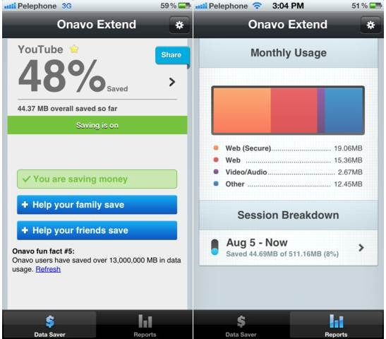 Onavo Extend 5 Best iPhone Data Traffic Monitor Apps