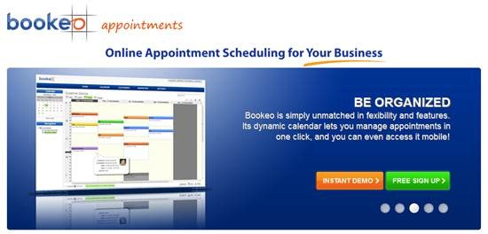 Online appointment scheduling Bookeo
