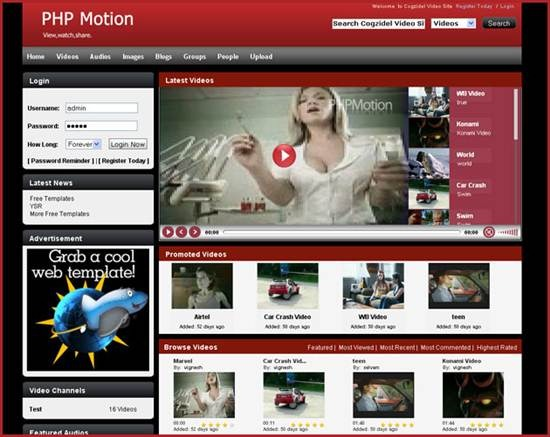 PHPmotion - Media Sharing CMS