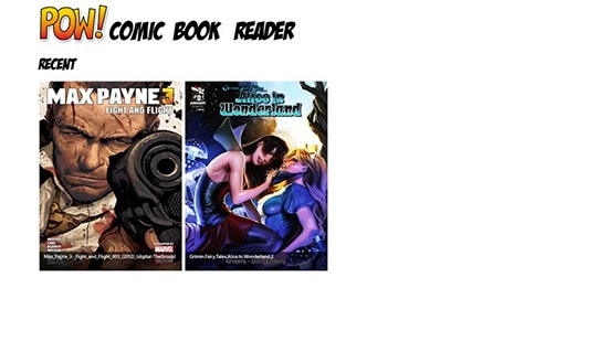 POW! Comic Book Reader - Comic Book Reader for Windows 8