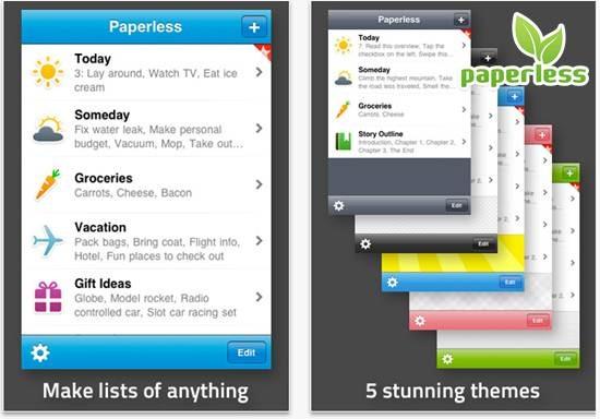 Paperless todo list