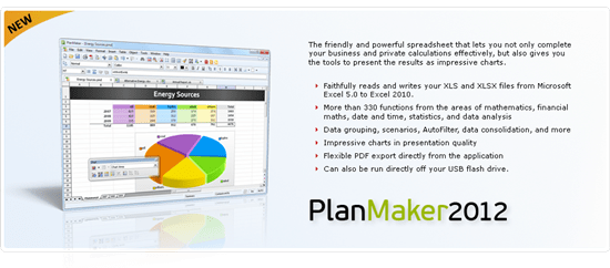 PlanMaker 8 free Microsoft excel alternative software
