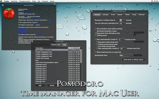 Pomodoro time manager