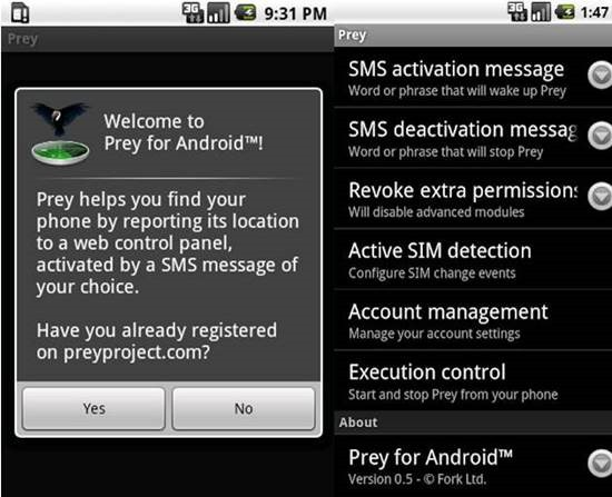 Prey Anti-Theft 9 Android Tracking Apps for Find Lost Android smartphone