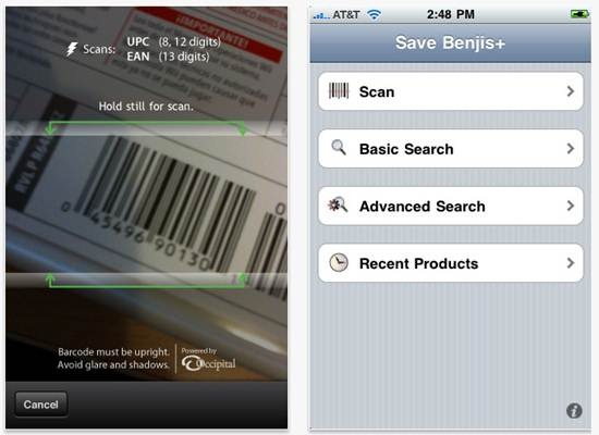 Save Benjis 18 free Mobile Shopping Apps for smartphone