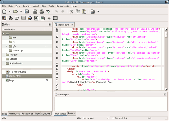 Screem – open source HTML/XML editor for Linux – Gadget Explorer