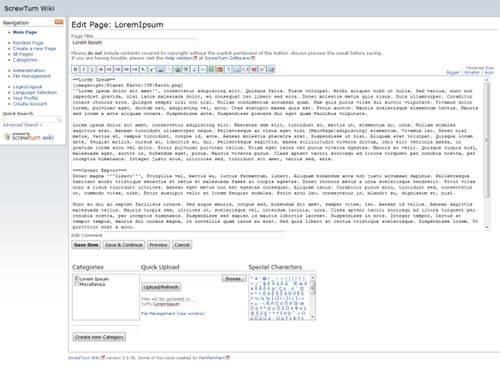 ScrewTurn wiki 17 open source wiki engine/software