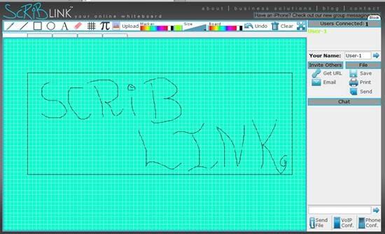 Scriblink – free online digital collaborative whiteboard