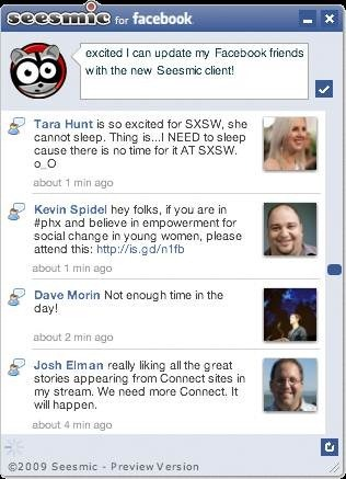 Seesmic for facebook