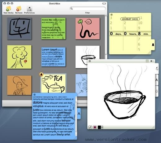 SketchBox - Sticky Notes Manager
