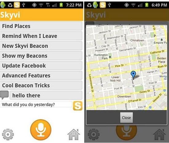 Skyvi Siri Alternative Apps for Android
