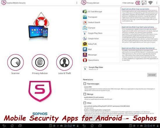Sophos Mobile Security app