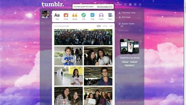 Sparkly Clouds 49 Useful Tumblr dashboard theme for Tumblr User