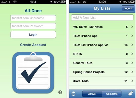 Ta-da List mobile to-do list : 20 most useful Mobile To-Do List manager for iPhone