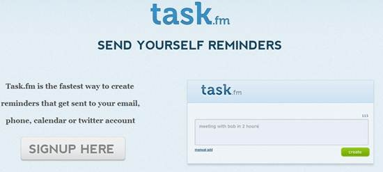Task-fm - web based reminder tool