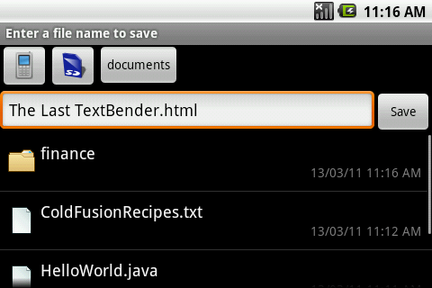 TextWarrior - syntax highlighting text editor for Android - 2