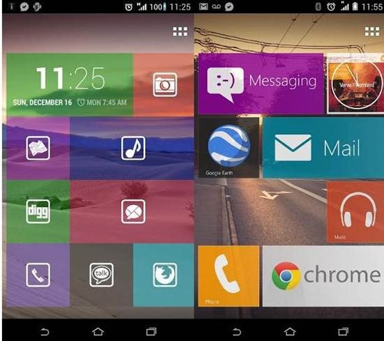 Tile Launcher for android – Brings Windows 8 Style Live
