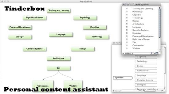 Tinderbox Personal content assistant