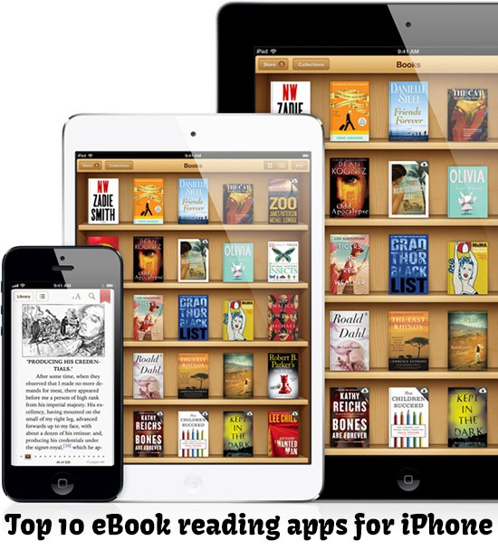 Top 10 eBook reading apps for iPhone