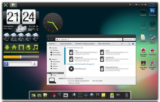 Android Jelly Bean Skin Pack for Windows 7 – Gadget Explorer