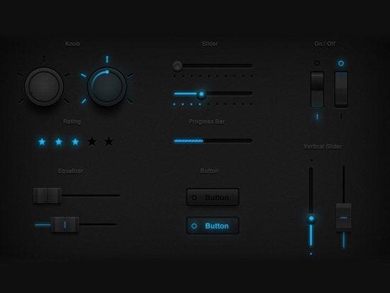 Tron Glow UI Set by Thiyagu Sivanganam