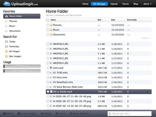 Uploadingit file hosting site
