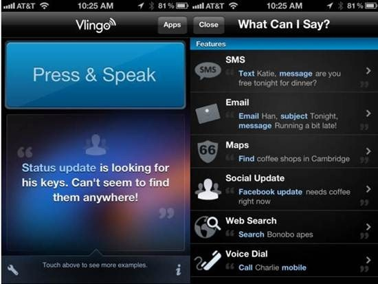 Vlingo iphone dictation apps