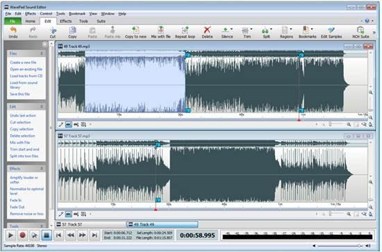WavePad Sound editing software for Mac