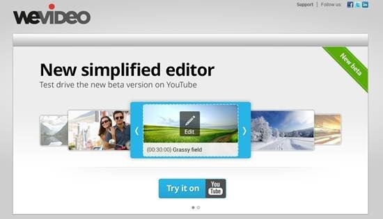 WeVideo cloud based video editing tool