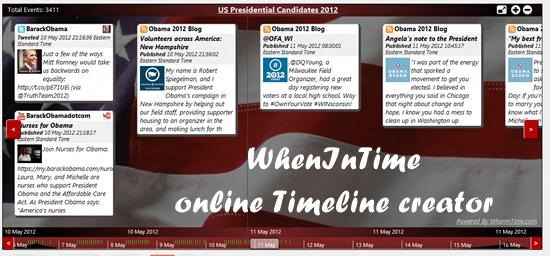 Whenintime timeline 6 best online digital timeline creator