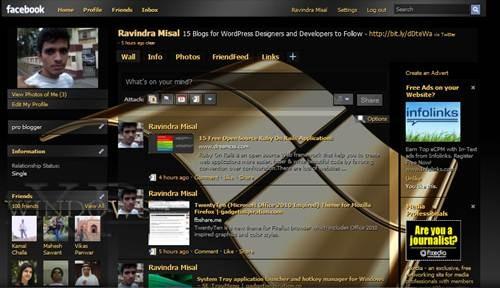 Windows XP Gold facebook Skin