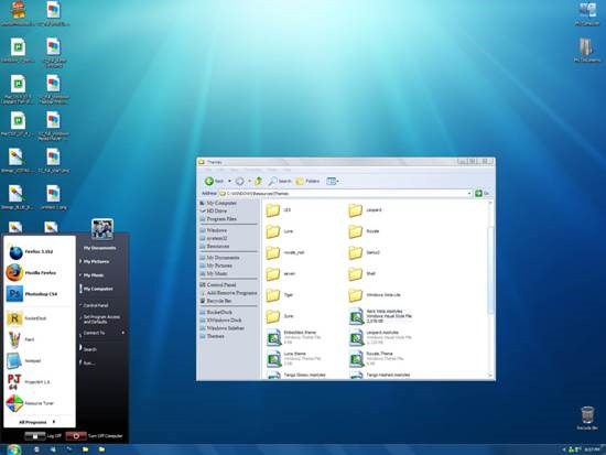 Windows_7_Visual_style_for_XP 55 most Beautiful free Window XP Themes and Visual Styles