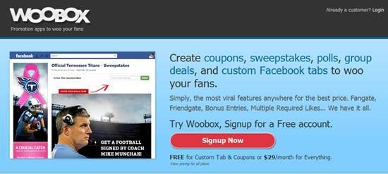 Woobox 13 useful Custom Facebook Fan page builder