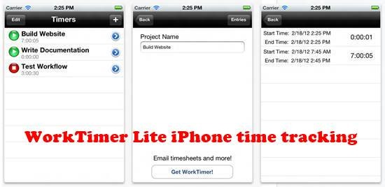 WorkTimer Lite 8 best iPhone Apps for Tracking Time on Projects