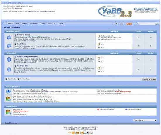 Yet another Bulletin Board - FREE Perl forum (bulletin board) system