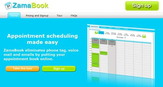 ZamaBook Appointment scheduling