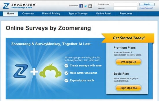 Zoomerang Survey software : Top 15 online survey software and questionnaire