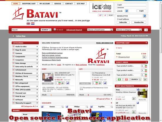 Batavi - Open source E-commerce application