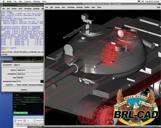 brl-cad 10 useful Free alternative to AutoCAD