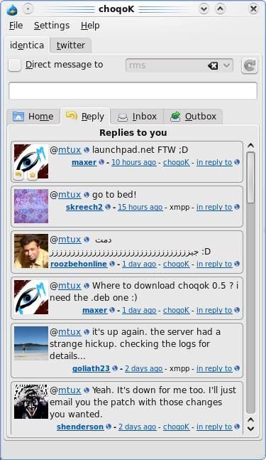 ChoqoK - KDE Micro-Blogging Client