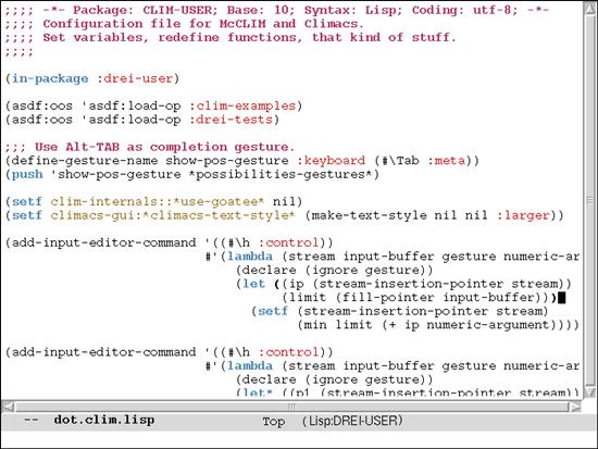 Climacs mac os x text editor