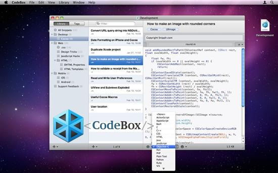 code snippet manager CodeBox
